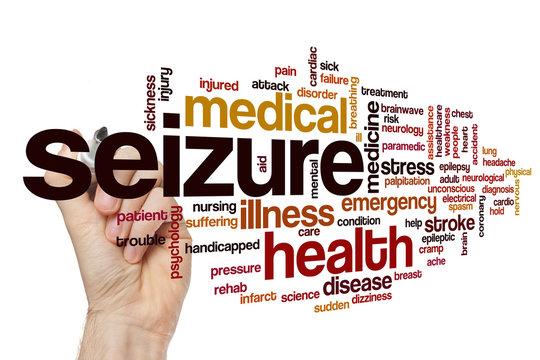 Seizure word cloud