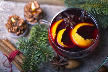Weihnachtspunsch Glühwein Heiß Tasse Glas