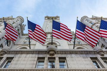 Donald Trump Hotel Washington DC Facade Exterior Entrance Lookin