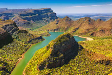 Poster Afrique du Sud Republic of South Africa - Mpumalanga province. Blyde River Canyon (the largest green canyon in the world, fragment of the Panorama Route)