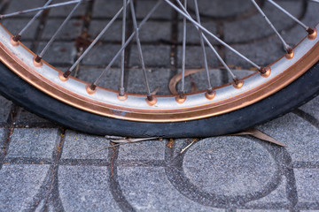bicycle flat tire