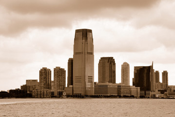 New Jersey. Sepia