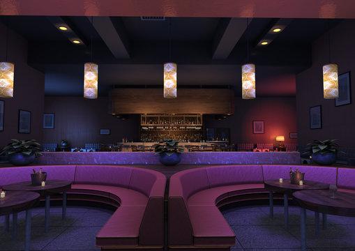 3D Rendering Lounge Bar