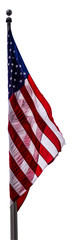 Flag of the United States of America, isolated on white Background