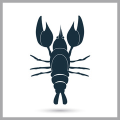 Lobster icon. Simple design for web and mobile