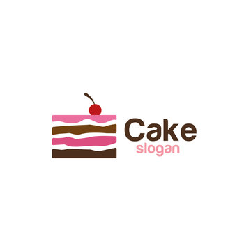 Cake icon logo design vector