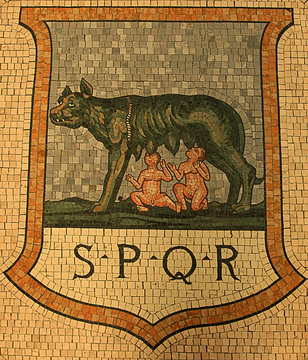 Ancient SPQR Mosaic