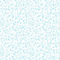 Floral seamless pattern. Vector. Leaves.