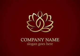 lotus flower yoga gold logo