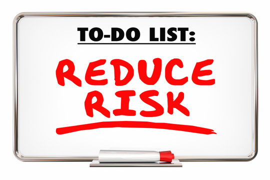 Reduce Risk Safety Prevent Loss Writing Words 3d Illustration