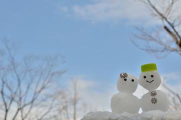 ふたりの雪だるま