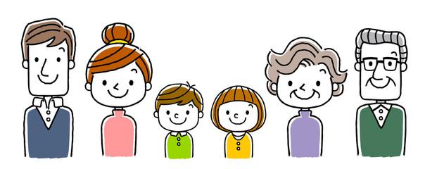 6人家族:両親と子供二人と祖父母の3世代