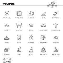 Travel icon or logo set for web design