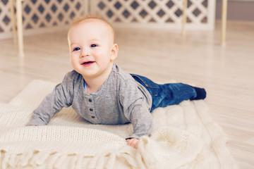 Portrait of a cute 6 months baby boy