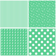 Collection of green patterns.