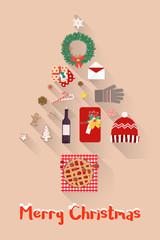 Christmas New Year Holiday items Set