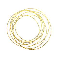 Circles set of gold glitter