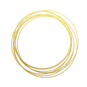 Golden circles and rings decoration element