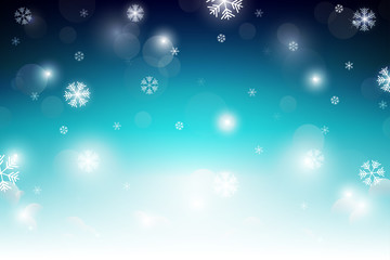 Winter background with snowflakes. Vector illustration. Christmas background.