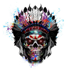 череп индейца