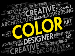 COLOR word cloud, creative business concept background