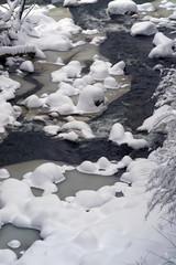 Carpathian River in winter