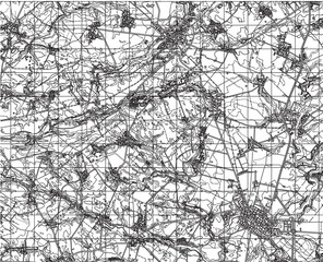 black and white drawing of a map