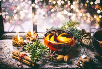 Weihnachten Postkarte Glühwein