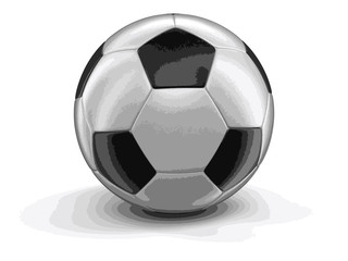 Soccer football. Image with clipping path
