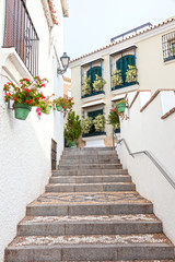 Stairway in a spanish town