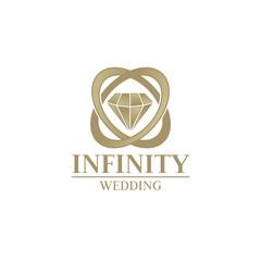 diamond wedding concept logo icon