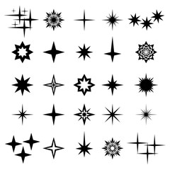 Vector illustration of sparks and sparks elements