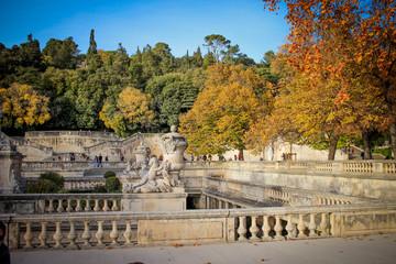 Jardins de la fontaine à Nîmes