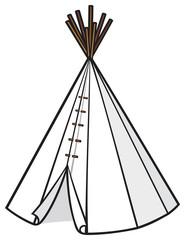 illustration of american indian wigwam (tepee)