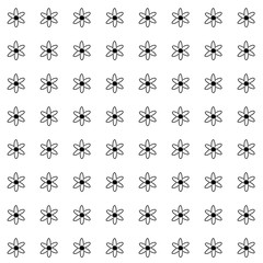 Black and white atom pattern