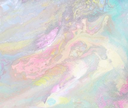 iridescebt marbled paper