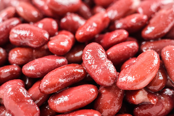 Pile Of Canned Red Kidney Beans