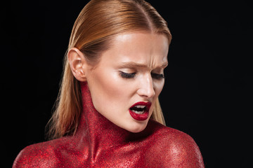 Red bodypaint