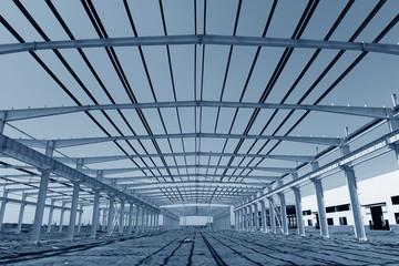 Steel structure workshop is under construction