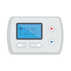 Temperature controller, electronic thermostat with a screen.