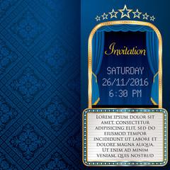 blue billboard invitation