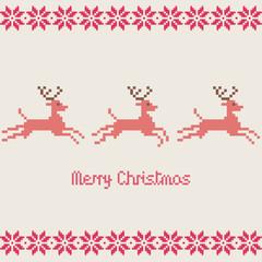 Merry Christmas vector pixels