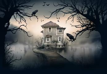 Obraz Haunted House on the Lake - fototapety do salonu
