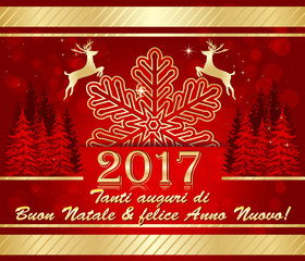 Tanti auguri di Buon Natale & felice Anno Nuovo! - Biglietto d'auguri.