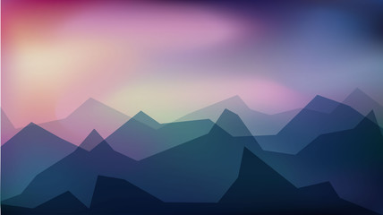 Geometric Blur abstract background.