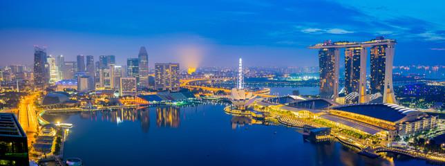 Panorama view of Singapore City, Singapore
