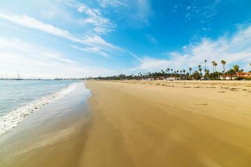 Golden shore in Santa Barbara