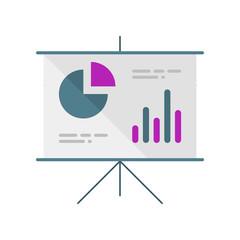 Presentation. Schedule. Diagram. Vector icon.