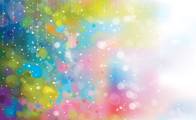 Vector abstract colorful lights  and stars background.