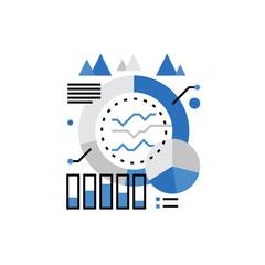 Marketing Statistics Monoflat Icon.